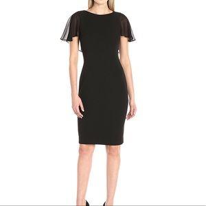 Calvin Klein Flutter Sleeve Sheath Dress 6